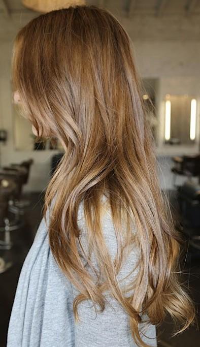 Side View of Long Sleek Hairstyles