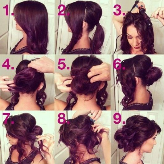 Step by Step Hair Tutorial Messy Romantic Updo