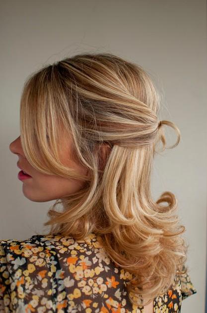 Wedding Hair Idea Twisted Half Up Half Down Hairstyle