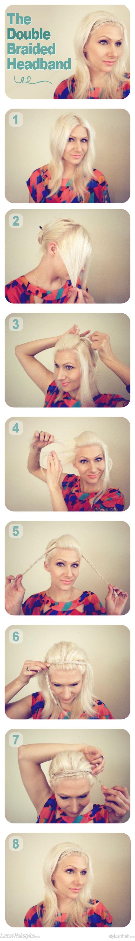 Braid Hair Tutorial How to do Double Braided Headband