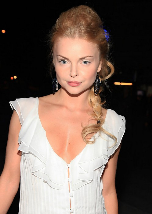 Izabella Miko Long Braided Hairstyle for Prom