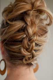 reverse french braid - summer