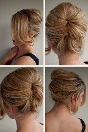 beautiful relaxed beehive updo