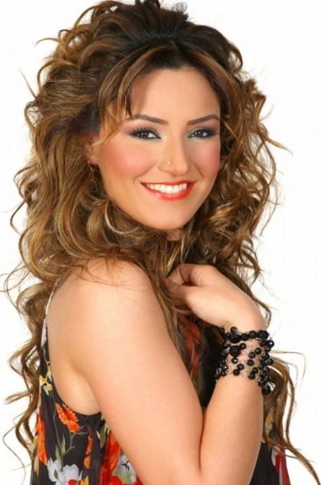 Layered Curly Hairstyle for Long Hair