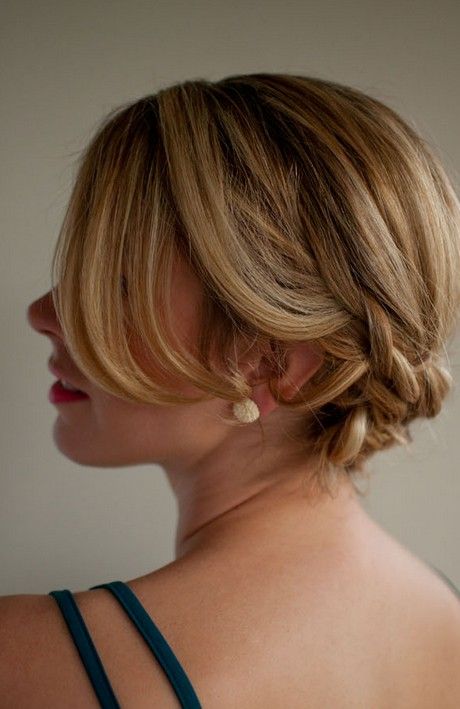 Side View of Low Braided Updo