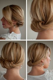 smooth simple flattering updo hairstyle