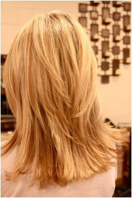 Back View of Layered Hairstyles for Girls