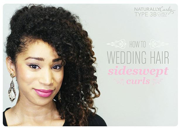 DIY Wedding Hairstyles: Sideswept Curls
