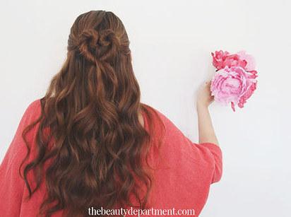 DIY Wedding Hairstyles: The Heart Bun for Long Hair