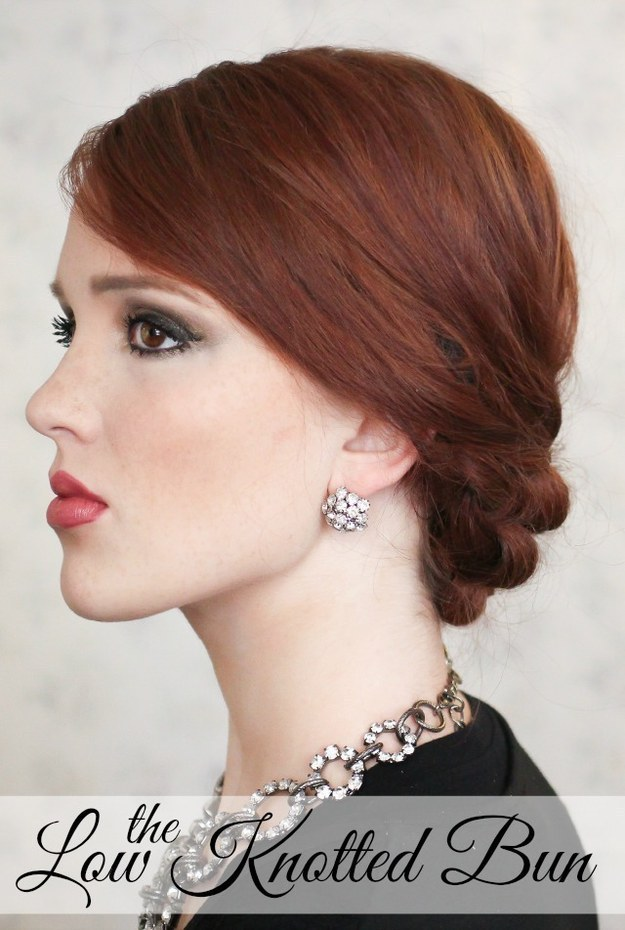 DIY Wedding Hairstyles: The Low Knotted Bun