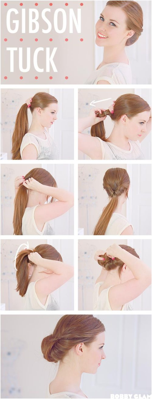 Gibson Tuck Low updo Tutorial