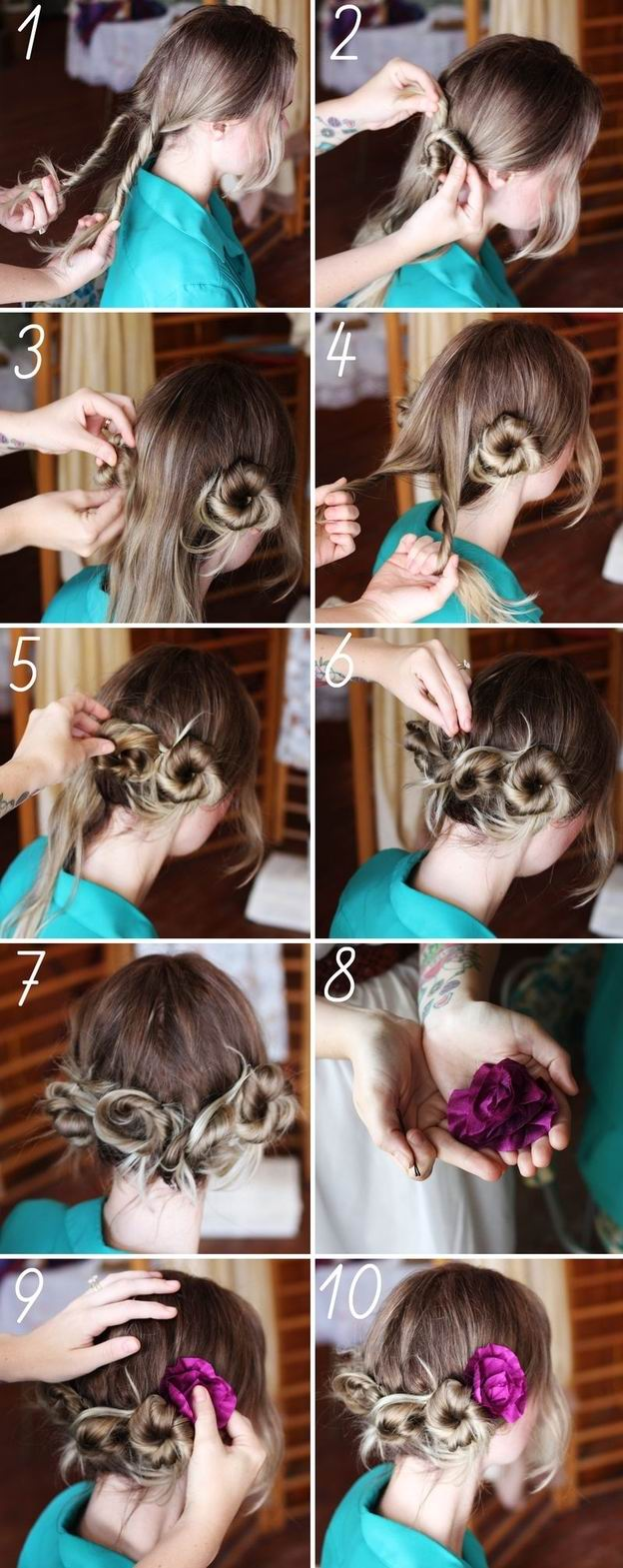 Hair Tutorial How to Create Twisty Buns