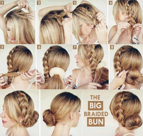 Hair Tutorials - How to do Big Braid Bun Updo