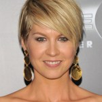 Jenna Elfman Layered Razor Cut with Side Swept Bangs for 2015
