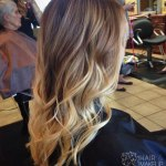 Trendy Long Brown to Blonde Ombre Hair with Waves