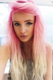 pink blonde ombre hair - pretty