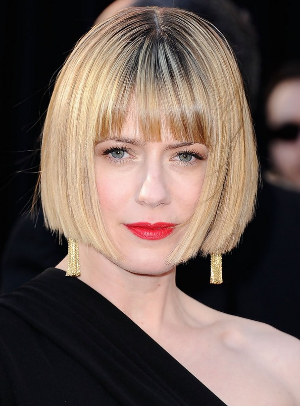 Sunrise Coigney Short Blunt Bob Haircut with Blunt Bangs