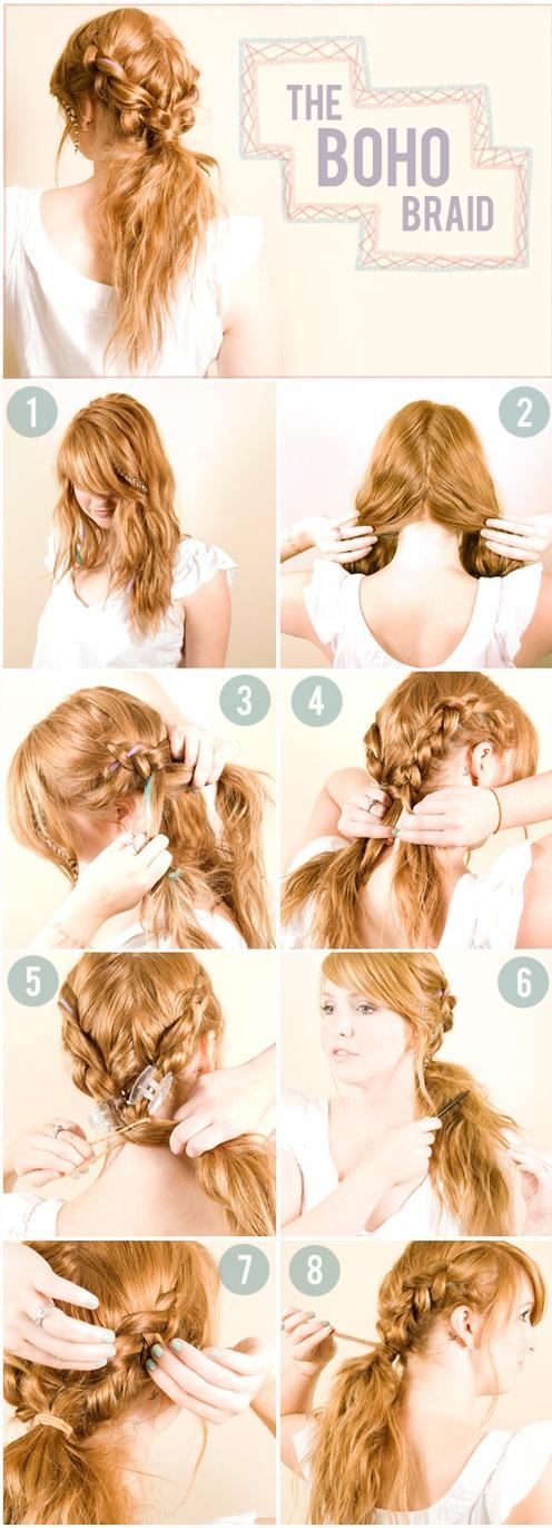 The Boho Braid Tutorial - How to do Messy Boho Braid