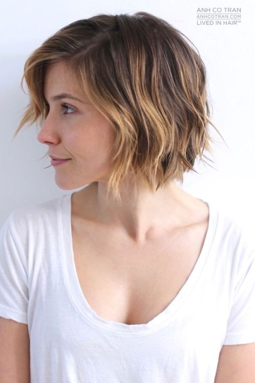 side view of short hairstyle