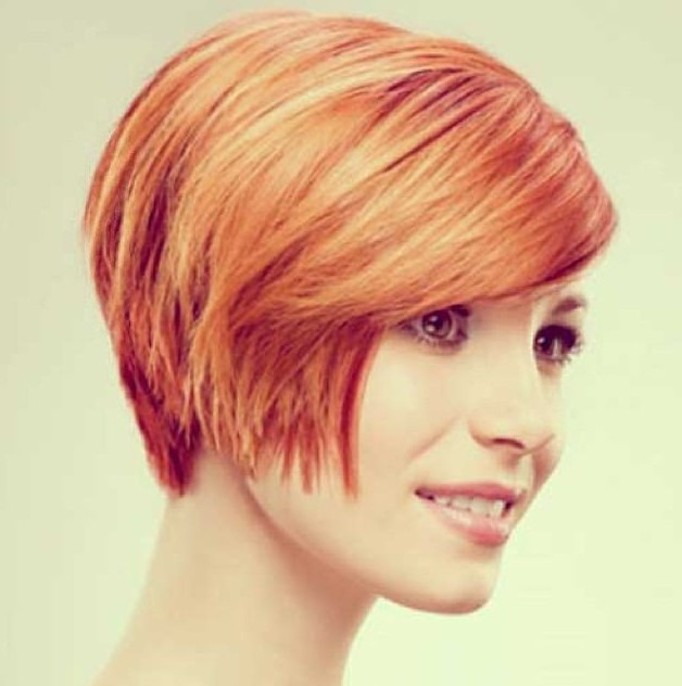 Chic Short Red Haircut for Women