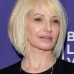Ellen Barkin Short Straight Bob Hairstyle for Women Over 50