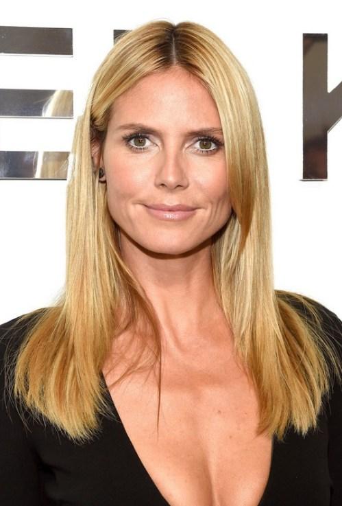 Heidi Klum Long Straight Hairstyle