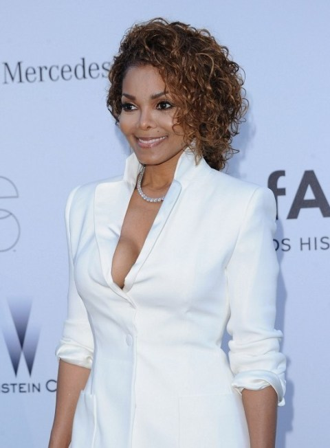 Janet Jackson Short Soft Curly Hairstyle for Black Women