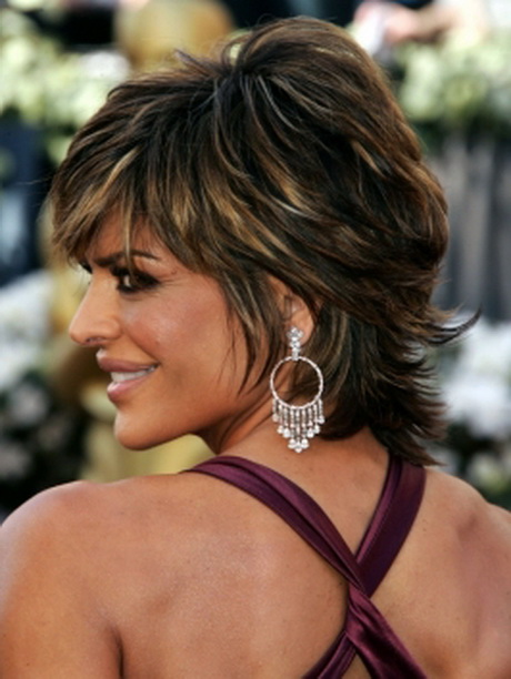 Lisa Rinna Layered Short Shag Haircut