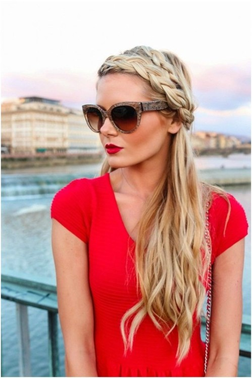 Long Blonde Braided Hairstyles for Girls