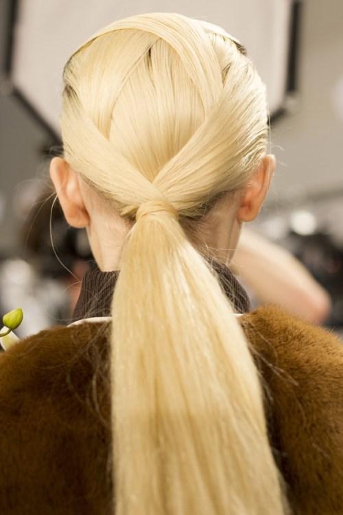 Long Blonde Low Ponytail