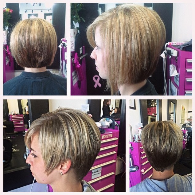 Sexy Layered Short Bob Hairstyle
