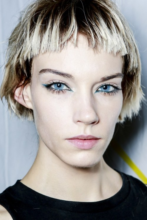 Trendy Short Haircut with super-cropped fringe