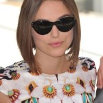 Keira Knightley straight bob hair style for oval, sqaure, round face shapes