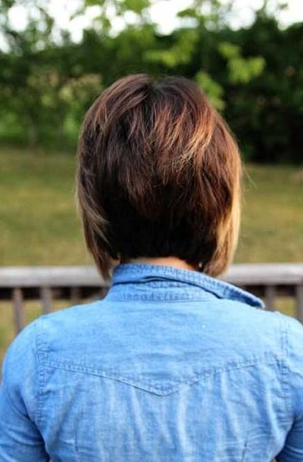 Layered bob haircuts back view