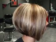black stacked swing bob haircut
