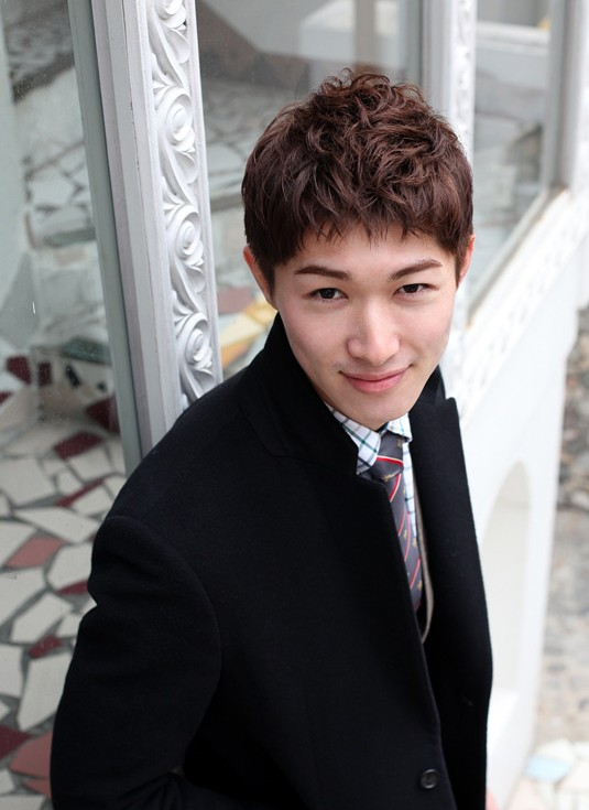Short Red Korean Haircut for Young Guys