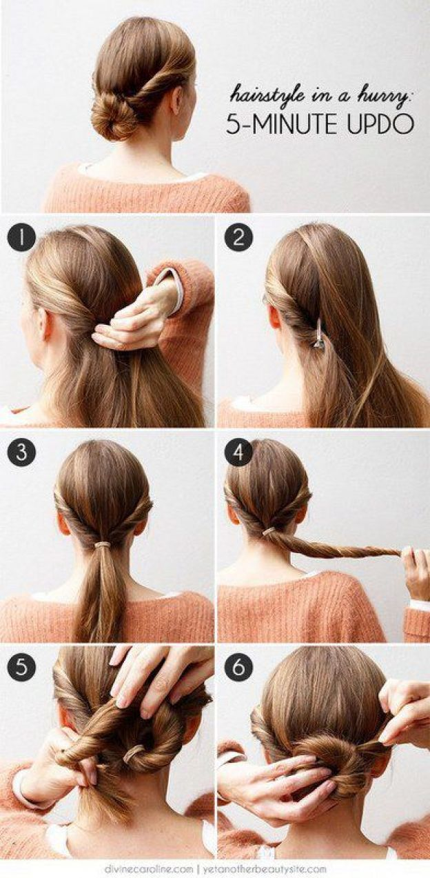 5 minutes updo for girls
