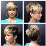 Different view of layered short haircut for black women