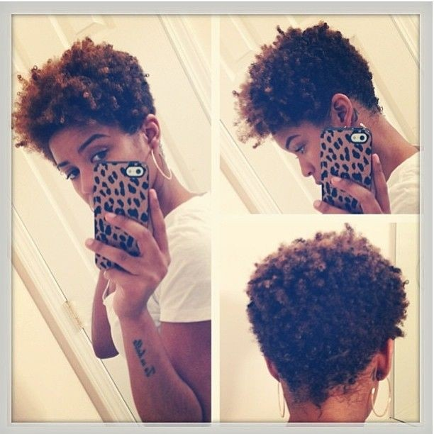 Short Naturally Curly Hairstyle For African American Women