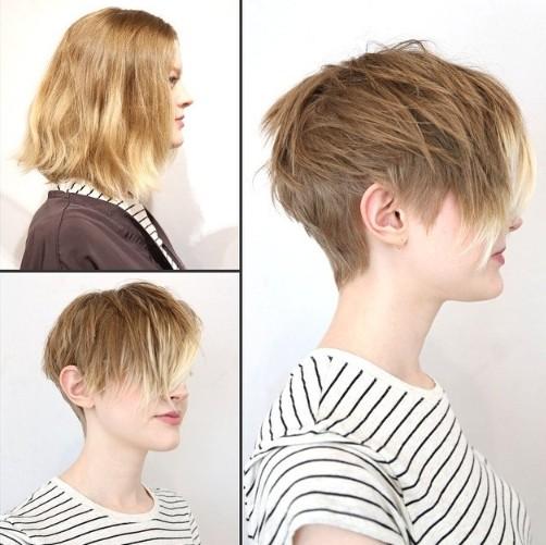 Feminine Amp Playful Short Haircut With Long Bangs For Women
