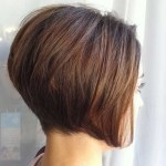 Side View of Graduated Bob Hairstyle for Short hair