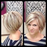 layered bob hairstyle - easy daily