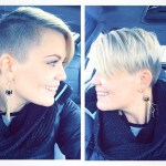 Sexy short haircut for fine straight hair