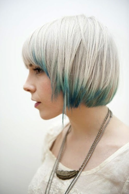 Side view of short bowl cut
