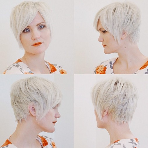 Textured Side Parting Hairstyle with Bangs