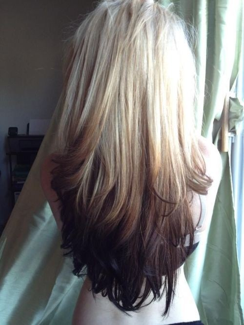 Cute-Long-Hairstyle-for-Straight-Hair-Blonde-to-Dark-Brown-Ombre