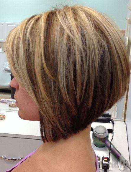 Side view of graduated bob cut for girls