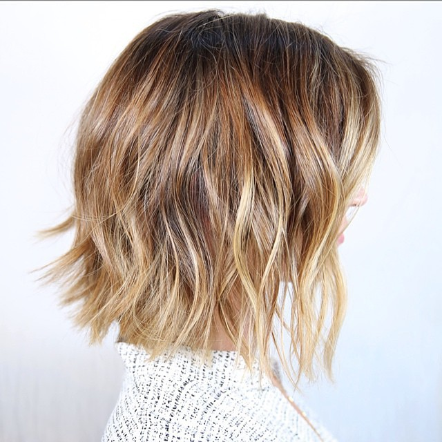 short messy bob haircut for thick hair