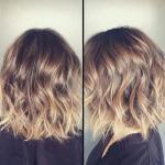 short ombre wavy bob haircut for women