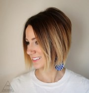 trendy ombre bob hairstyles